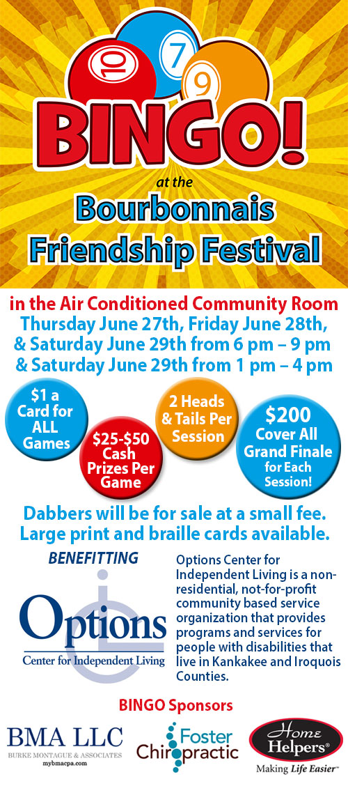 Friendship Festival Bingo